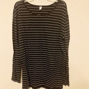 Black and white striped long sleeve